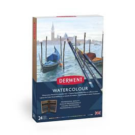 Derwent Watercolour Pencils Wooden Box of 24 Thumbnail Image 2