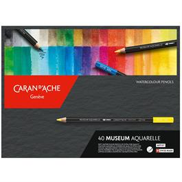 Caran d'Ache Museum Aquarelle Pencils - 40 Assorted Set Thumbnail Image 0