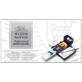 Winsor & Newton Professional Watercolour Field Box - 12 Half Pans Thumbnail Image 1