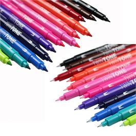 Tombow TwinTone Marker Set Of 12 Bright Colours Thumbnail Image 3