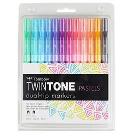 Tombow TwinTone Marker Set Of 12 Pastel Colours thumbnail