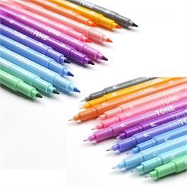 Tombow TwinTone Marker Set Of 12 Pastel Colours Thumbnail Image 3
