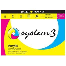 Daler Rowney System 3 Acrylic Artboard Pads Thumbnail Image 1