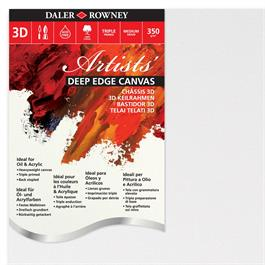 "Daler Rowney Artists' Deep Edge Canvas 16"" x 20"" / 40cm x 50cm thumbnail"