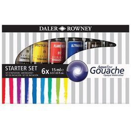 Daler Rowney Aquafine Gouache Set 6 x 15ml thumbnail