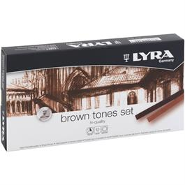 Lyra Rembrandt Hard Pastels Brown Tones Set Of 12 thumbnail