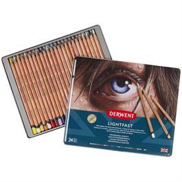Derwent Lightfast Pencils Tin of 24 Thumbnail Image 1