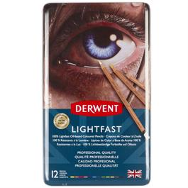 Derwent Lightfast Pencils Tin of 12 thumbnail