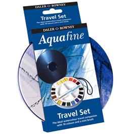 Daler Rowney Aquafine Travel Set With 18 Half Pans Thumbnail Image 2