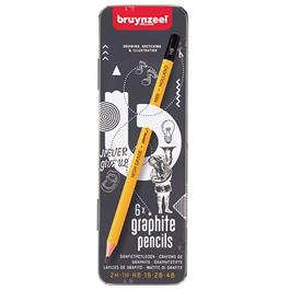 Bruynzeel 6 Graphite Pencils Tin thumbnail