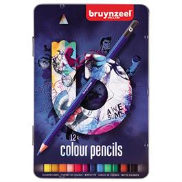 Bruynzeel 12 Colour Pencils In Blue Tin thumbnail