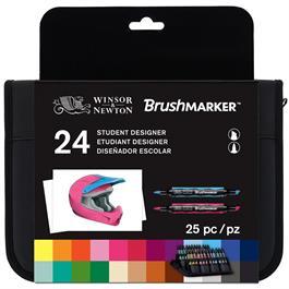 Winsor & Newton BrushMarker Student Designer 24 Set Thumbnail Image 0