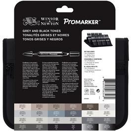 Winsor & Newton ProMarker Black & Greys 24 Set Thumbnail Image 1