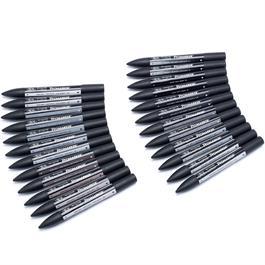 Winsor & Newton ProMarker Black & Greys 24 Set Thumbnail Image 2