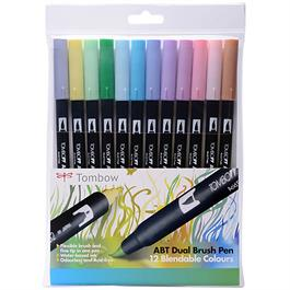 Tombow Dual Brush Pen Set of 12 - Pastels thumbnail