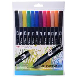 Tombow Dual Brush Pen Set of 12 - Primary thumbnail