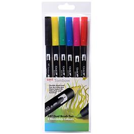 Tombow Dual Brush Pen Set of 6 - Primary thumbnail