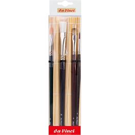 da Vinci Acrylic & Oil Brush Set With Bamboo Mat Thumbnail Image 2