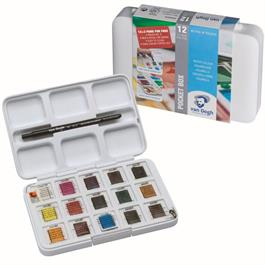 Van Gogh Water Colour Pocket Box 12 Half Pans & Brush thumbnail