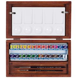 National Gallery Watercolour Wooden Box Set With 24 Half Pans thumbnail