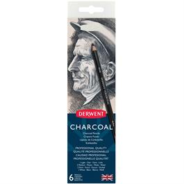 Derwent Charcoal Pencils Tin of 6 Thumbnail Image 1