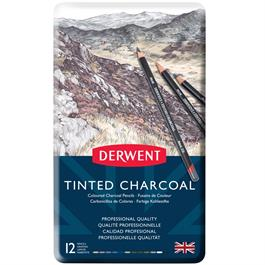 Derwent Tinted Charcoal Tin of 12 thumbnail