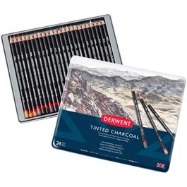 Derwent Tinted Charcoal Tin of 24 thumbnail