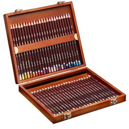 Derwent Coloursoft Pencils Wooden Box of 48 Thumbnail Image 1