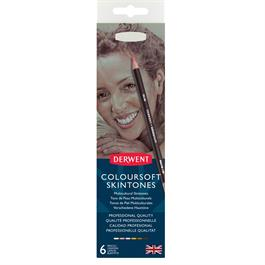 Derwent Coloursoft Skintones 6 Tin Thumbnail Image 1