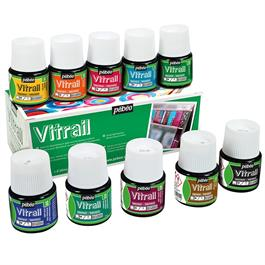 Pebeo Vitrail 10 x 45ml Colours Thumbnail Image 0