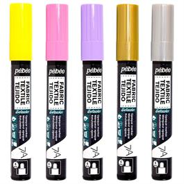 Pebeo 7A Fabric Markers Opaque With Round 4mm Tip Thumbnail Image 1