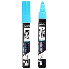 Pebeo 7A Fabric Markers Opaque With Round 4mm Tip Thumbnail Image 0