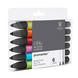 Winsor & Newton ProMarker 6 Vibrant Tones Thumbnail Image 4