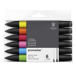 Winsor & Newton ProMarker 6 Vibrant Tones Thumbnail Image 0
