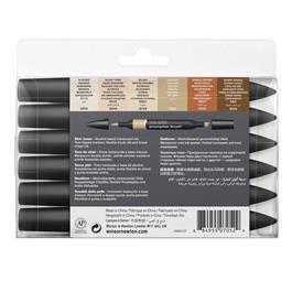 Winsor & Newton ProMarker Brush Set of 6 Skin Tones Thumbnail Image 2
