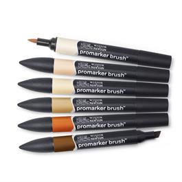 Winsor & Newton ProMarker Brush Set of 6 Skin Tones Thumbnail Image 1