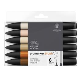 Winsor & Newton ProMarker Brush Set of 6 Skin Tones Thumbnail Image 0