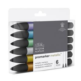 Winsor & Newton ProMarker Metallic Set of 6 Thumbnail Image 4