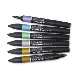 Winsor & Newton ProMarker Metallic Set of 6 Thumbnail Image 1