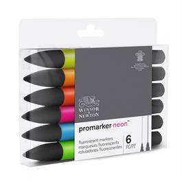 Winsor & Newton ProMarker Neon Set of 6 Thumbnail Image 4