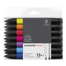 Winsor & Newton ProMarker Brush 12 Vibrant Set Thumbnail Image 0