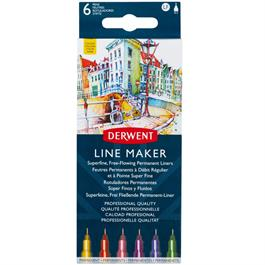 Derwent Line Maker Colour Set Of 6 Thumbnail Image 1