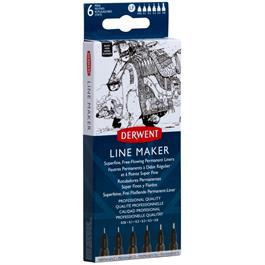 Derwent Line Maker Black Set Of 6 Thumbnail Image 2