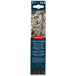 Derwent Line Maker Black Set Of 3 Thumbnail Image 0