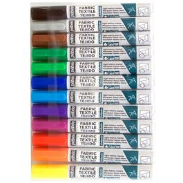 Pebeo 7A Fabric Marker Set Of 12 Assorted Colours thumbnail
