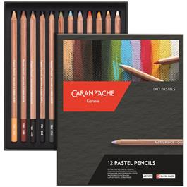 Caran d Ache Pastel Pencils 12 Assorted Set thumbnail
