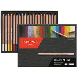 Caran d Ache Pastel Pencils 20 Assorted Set thumbnail