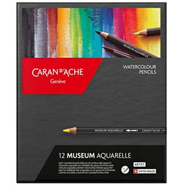 Caran d'Ache Museum Aquarelle Pencils - 12 Assorted Set thumbnail