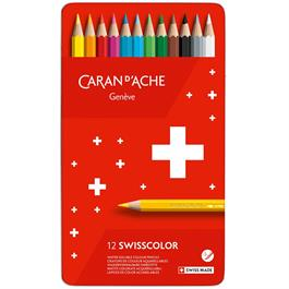 Caran d'Ache Swisscolor Pencils Tin Of 12 thumbnail