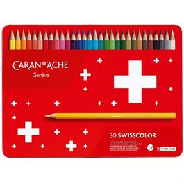 Caran d'Ache Swisscolor Pencils Tin Of 30 Thumbnail Image 0